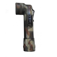LED Military Style Angled Head Torch Camouflage