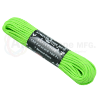 Paracord Reflective Neon Green 550 7 strand (100ft) Military Spec MADE IN USA