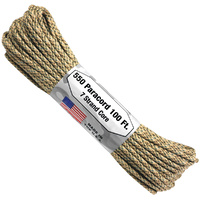 Paracord Desert 550 7 strand (100ft) Military Spec MADE IN USA