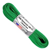 Paracord Green 550 7 strand (100ft) Military Spec MADE IN USA
