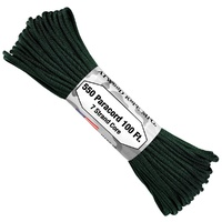 "Paracord ""Hunter Green"" 550 7 strand (100ft) Military Spec MADE IN USA"