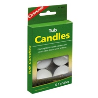 Tub Candles - 5 hour candles to suit Coghlans Candle Lantern (pack of 6)