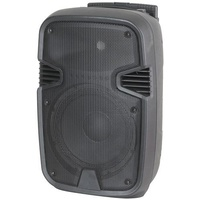 "10"" Portable Party Speaker with Bluetooth, USB, SD MP3 Player on roller wheels"