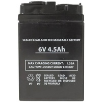 SuncaKMax 6V 4.5Ah SLA Battery to suit Rechargeable Fans & Power Packs