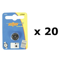 LR44 Alkaline 1.5V (20x Pack) Toy, Watch, Game, Camera Battery (A76/V13GA/357A)
