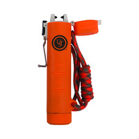 TekFire Charge Fuel-Free USB Lighter, Orange