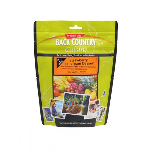 BackCountry Strawberry Ice-cream (Ambrosia) Regular Sized Freeze Dried Dessert