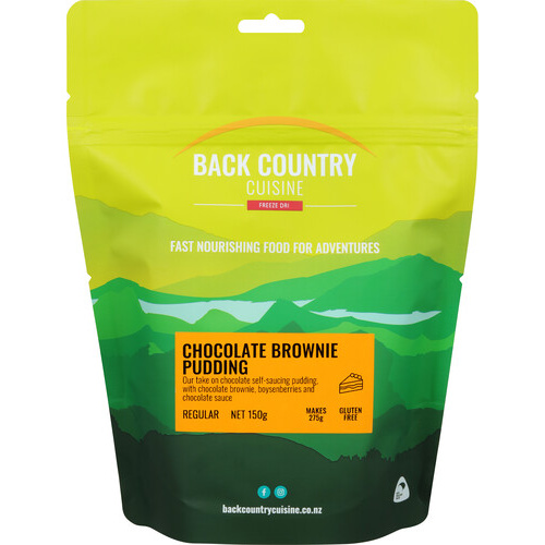 BackCountry Chocolate Brownie Pudding - Gluten Free Regular Sized Freeze Dried Dessert